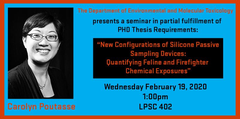 Carolyn Poutasse PhD Seminar