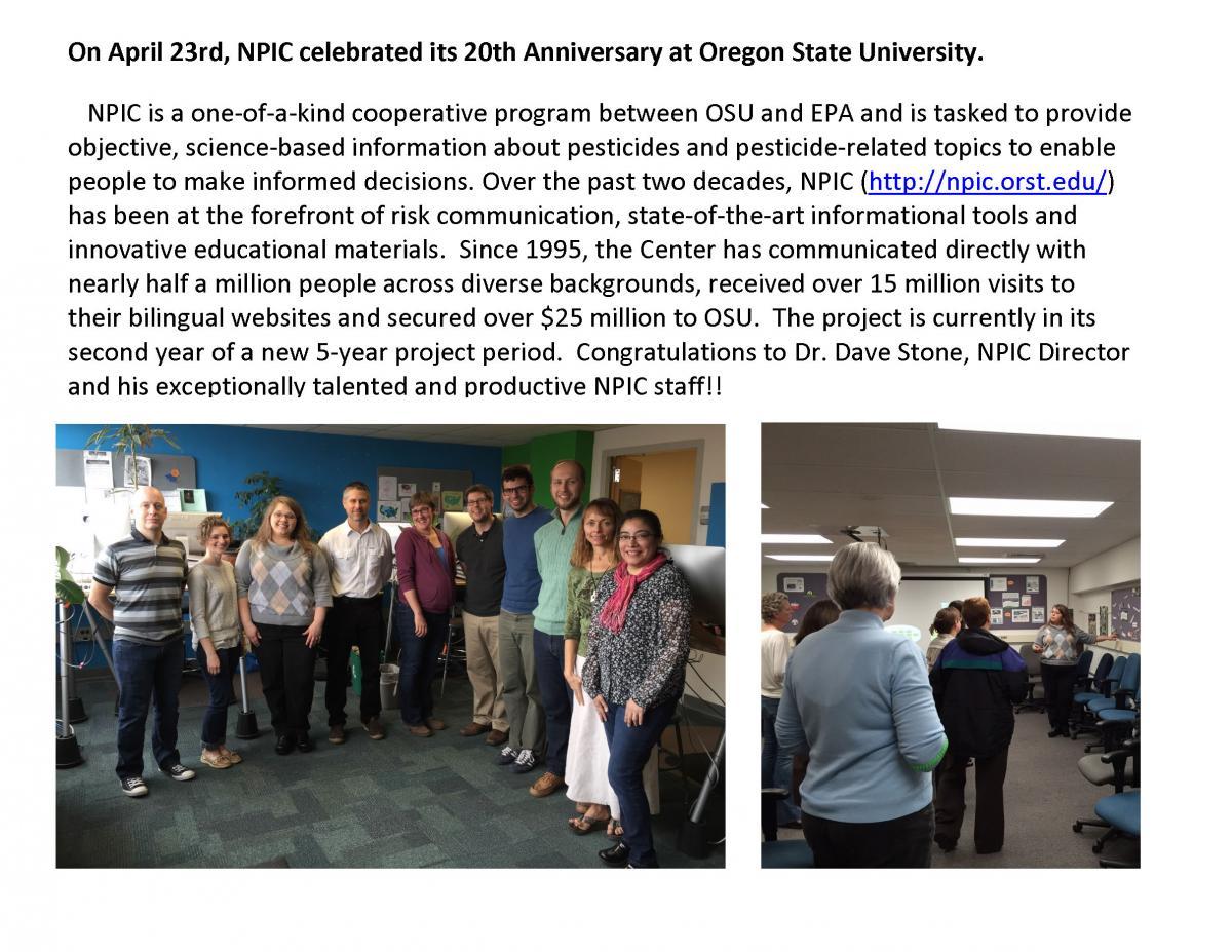 NPIC Celebrated it's 20th anniversary