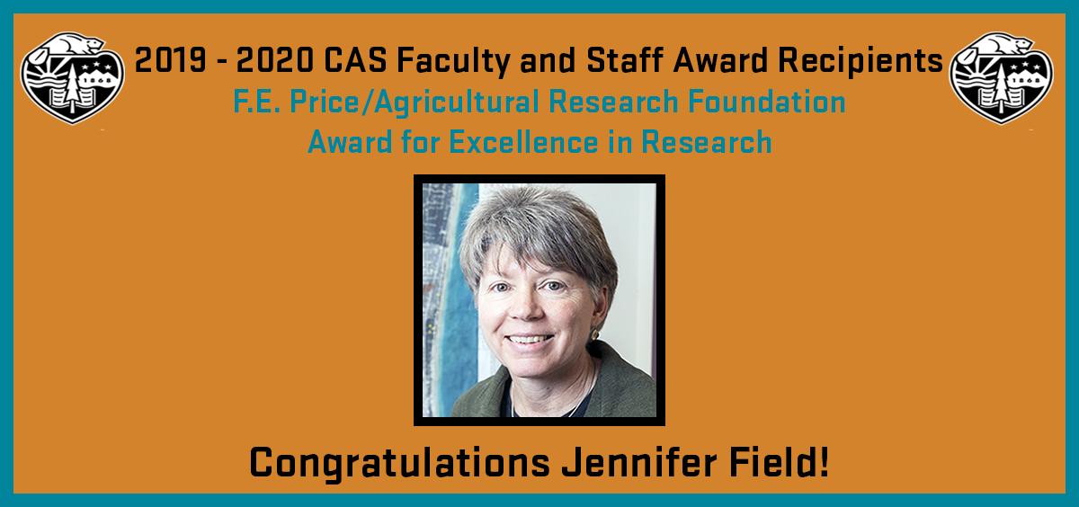 2019 - 2020 CAS Faculty and Staff Award Recipient: Jennifer Field