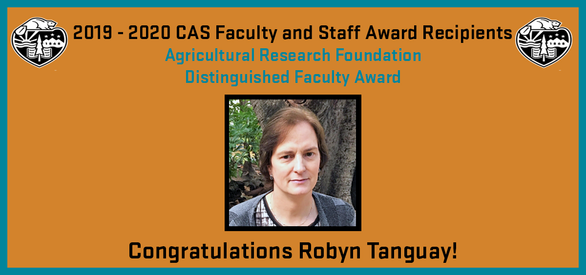 2019 - 2020 CAS Faculty and Staff Award Recipient: Robyn Tanguay
