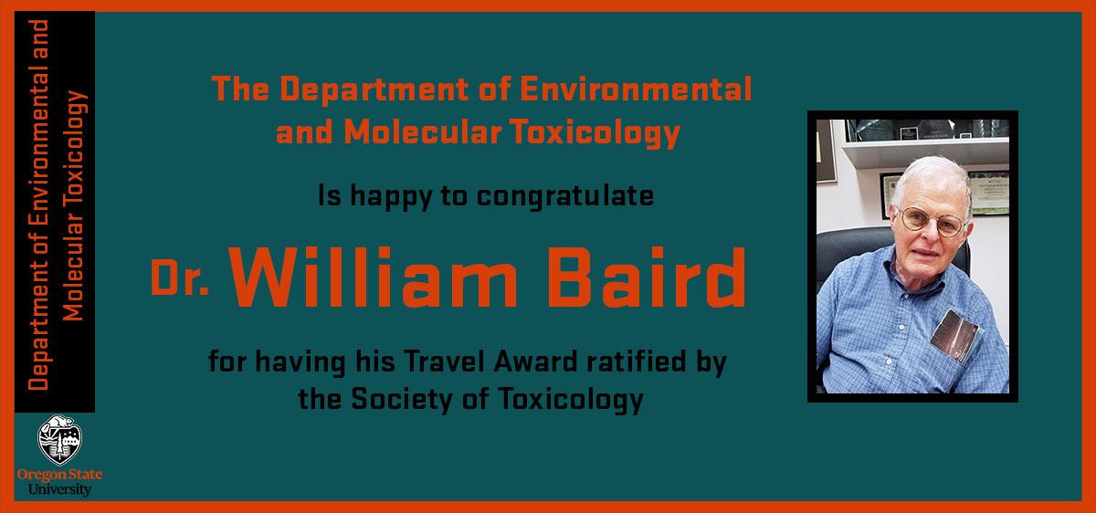 Dr. William Baird travel award