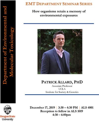 Dr. Patrick Allard Seminar