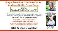 Academic Field to Private Sector Webinar