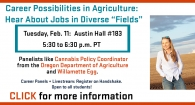 Career Possibilities in Agriculture