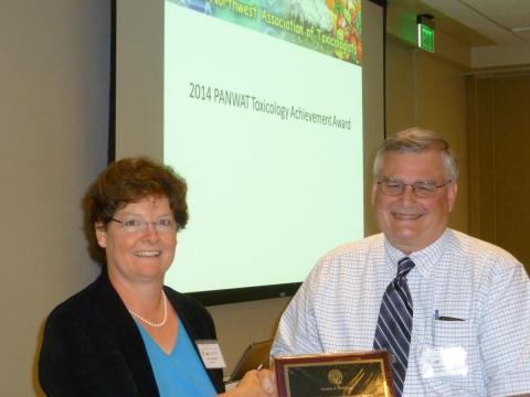 Dr. Dave Williams awarded PANWAT Achievement Award